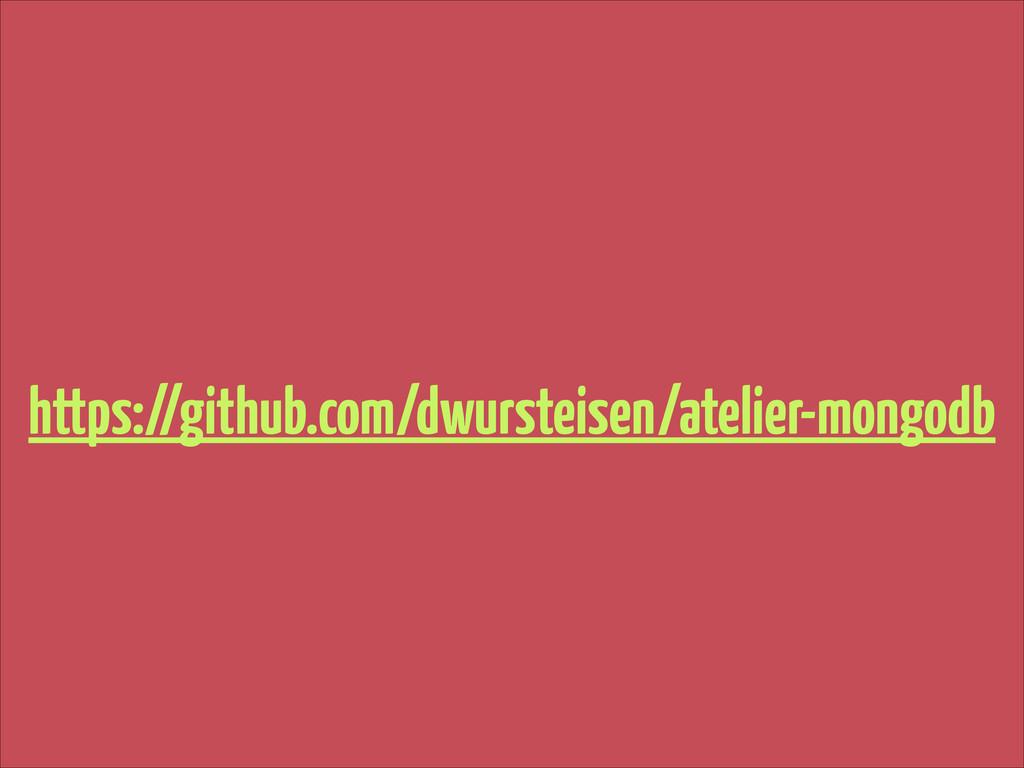 https://github.com/dwursteisen/atelier-mongodb