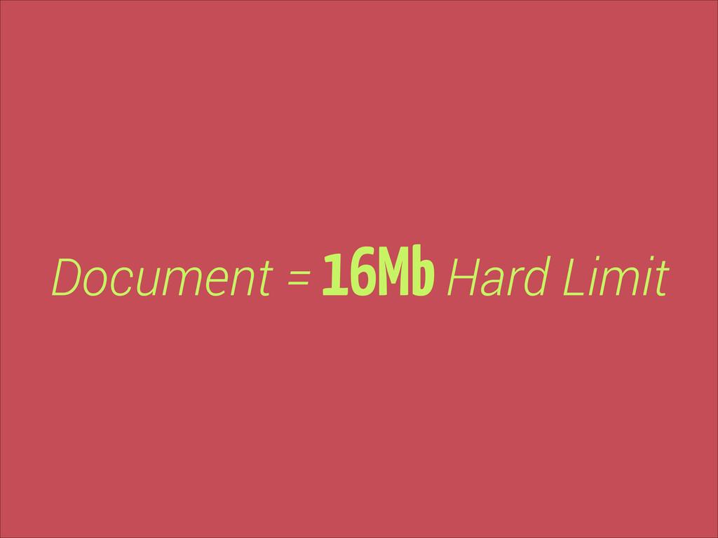 Document = 16Mb Hard Limit