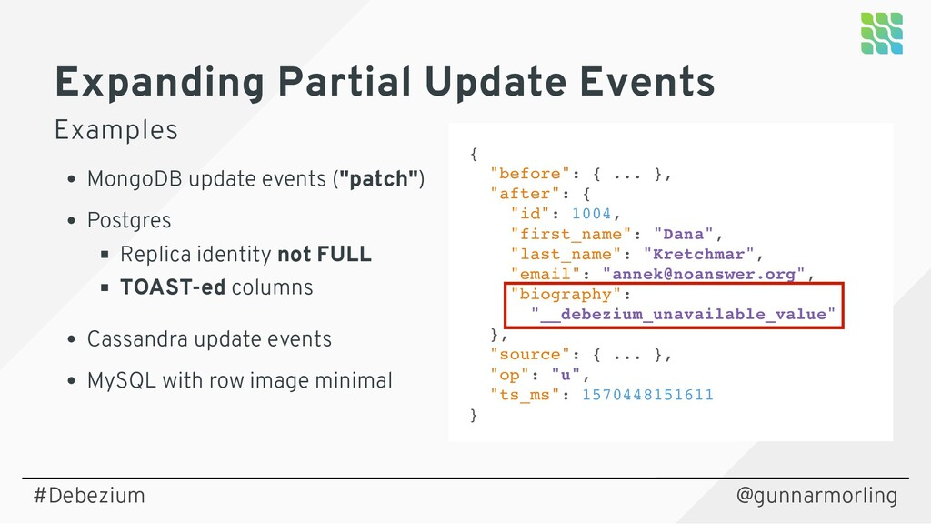 @gunnarmorling Expanding Partial Update Events ...