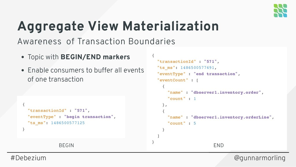 Aggregate View Materialization Awareness of Tra...