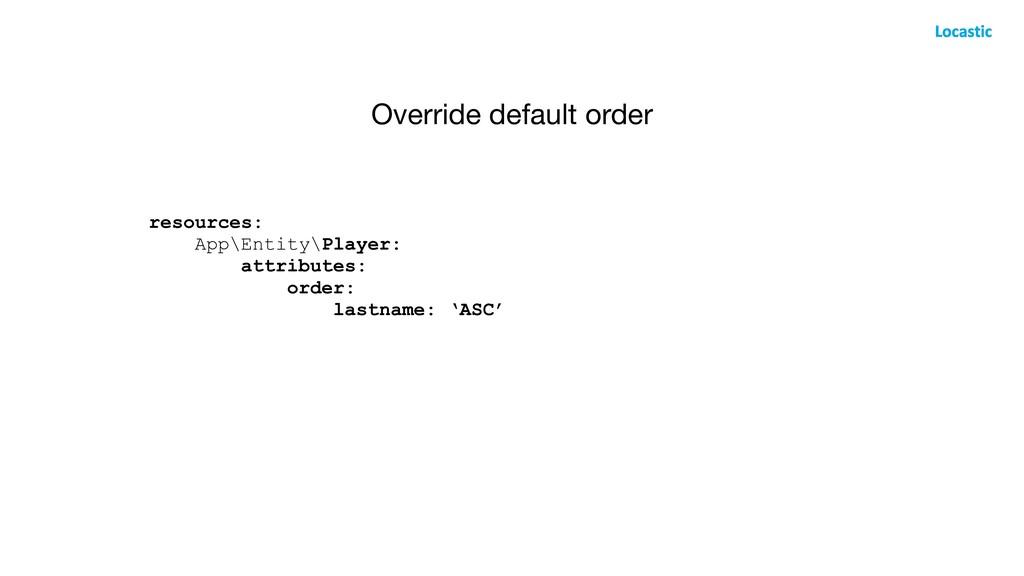 Override default order resources: App\Entity\Pl...