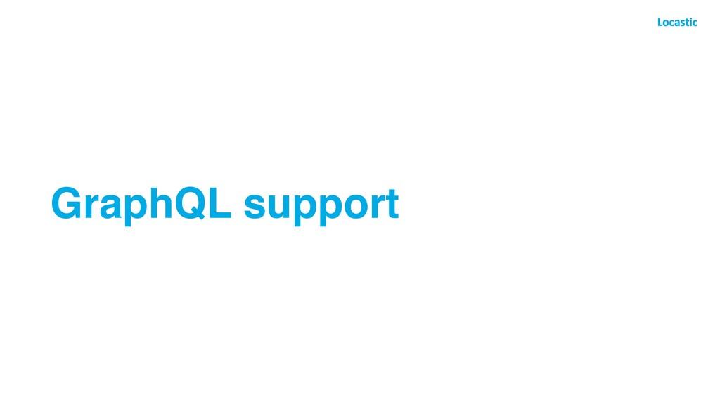 GraphQL support