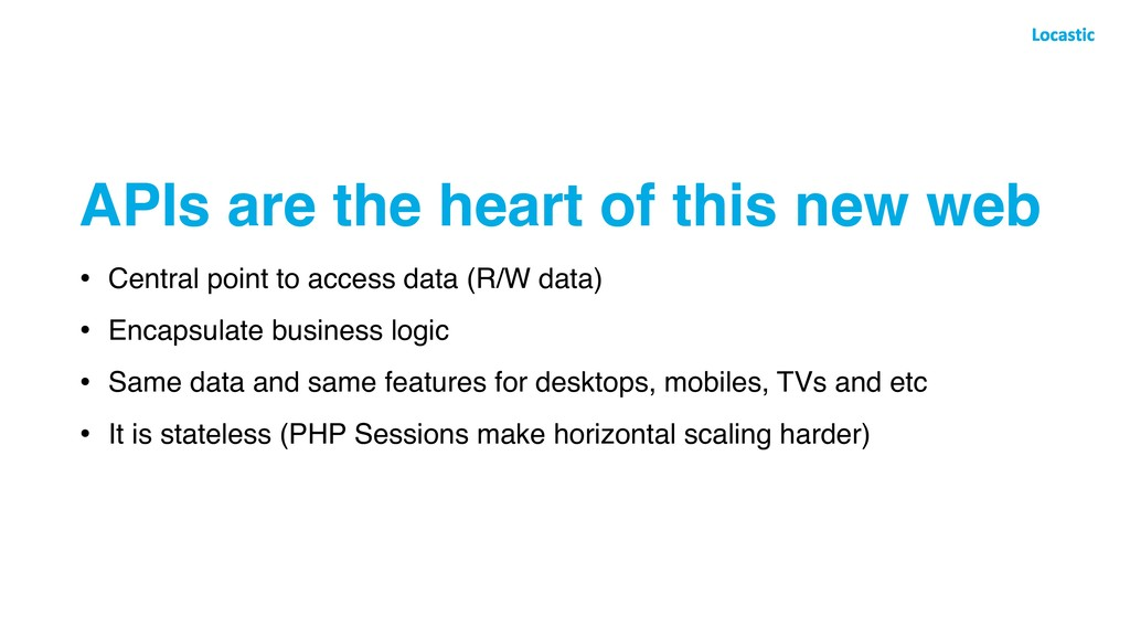 APIs are the heart of this new web • Central po...