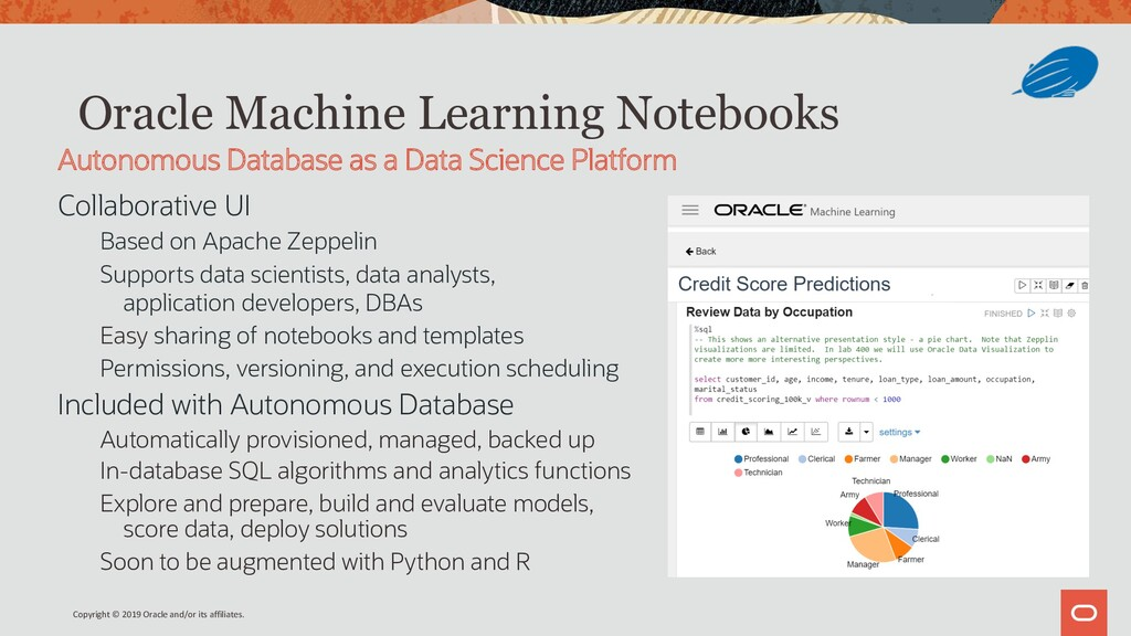 Oracle Machine Learning Notebooks Collaborative...