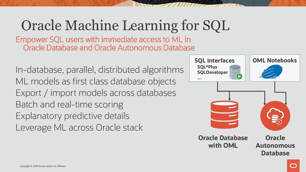 Oracle Machine Learning for SQL In-database, pa...