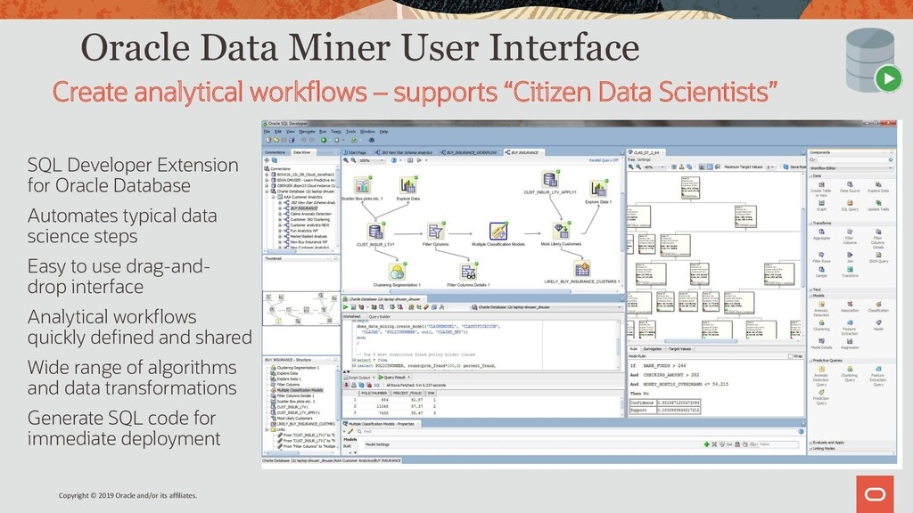 Oracle Data Miner User Interface SQL Developer ...