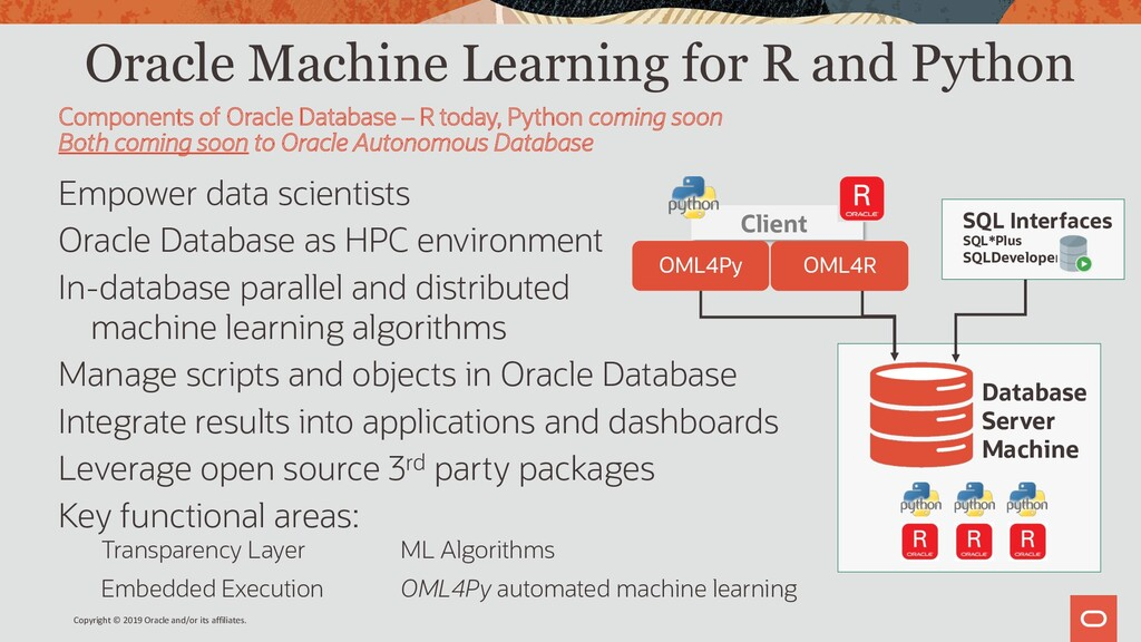 Oracle Machine Learning for R and Python Empowe...