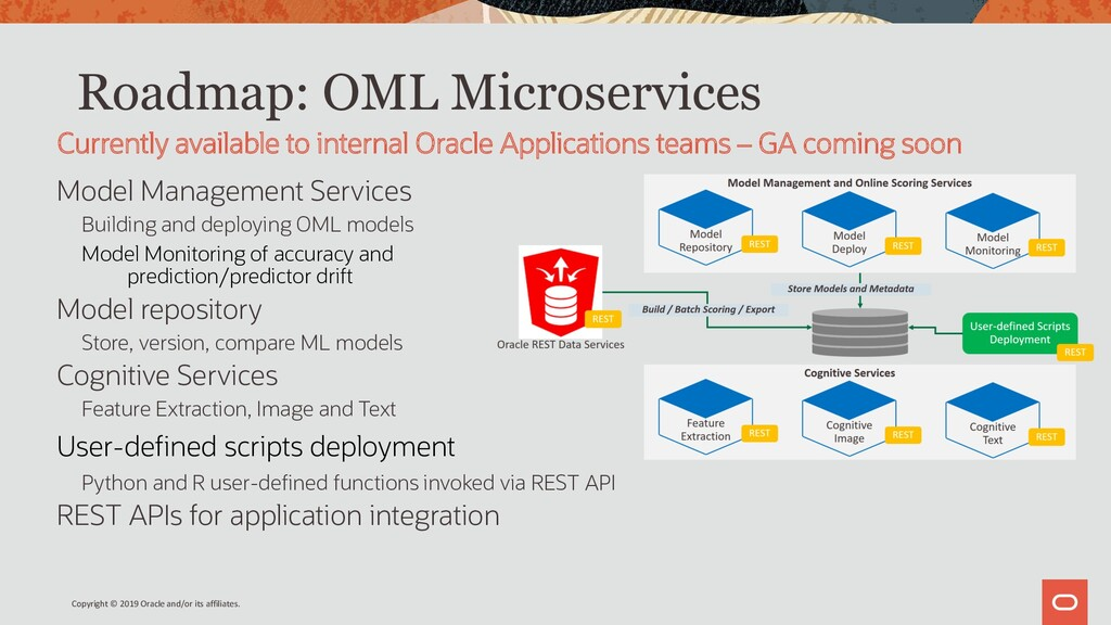 Roadmap: OML Microservices Model Management Ser...