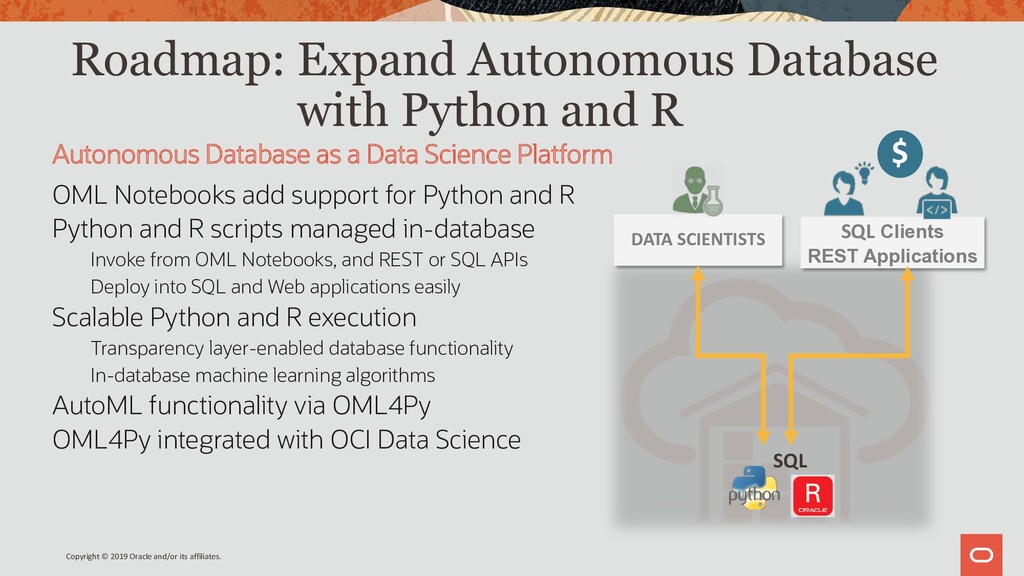 Roadmap: Expand Autonomous Database with Python...