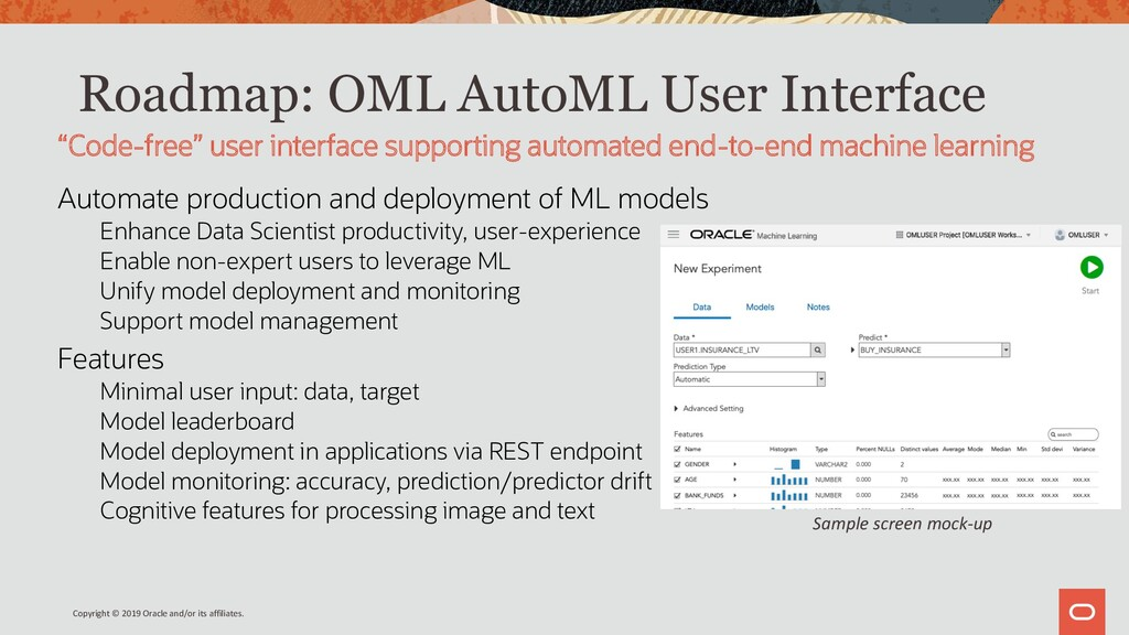 Roadmap: OML AutoML User Interface Automate pro...