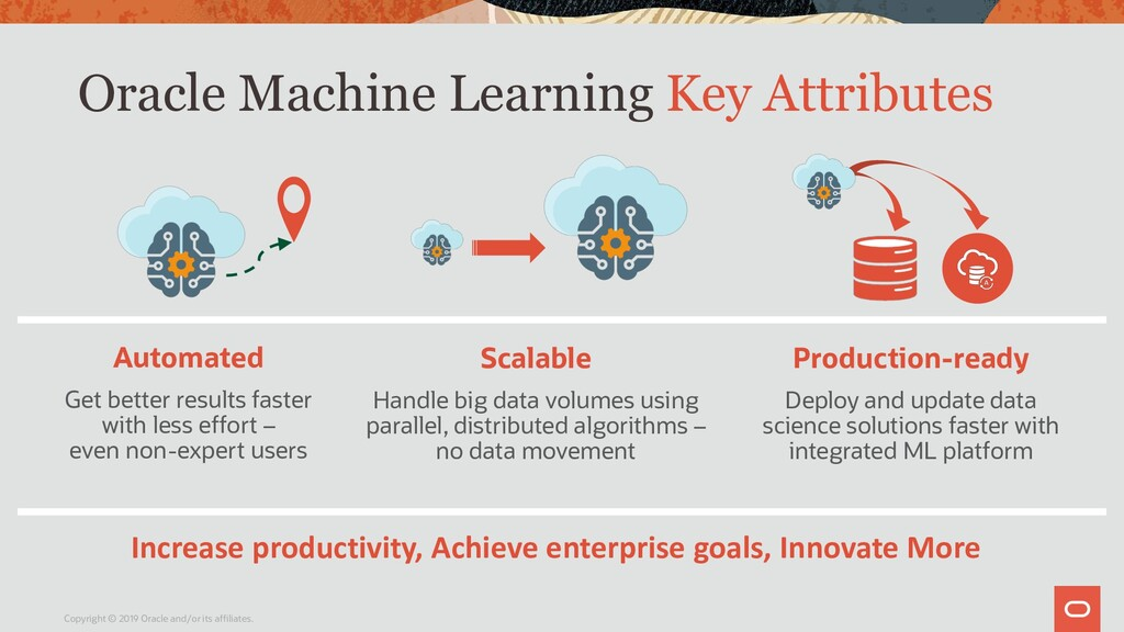 Oracle Machine Learning Key Attributes Copyrigh...