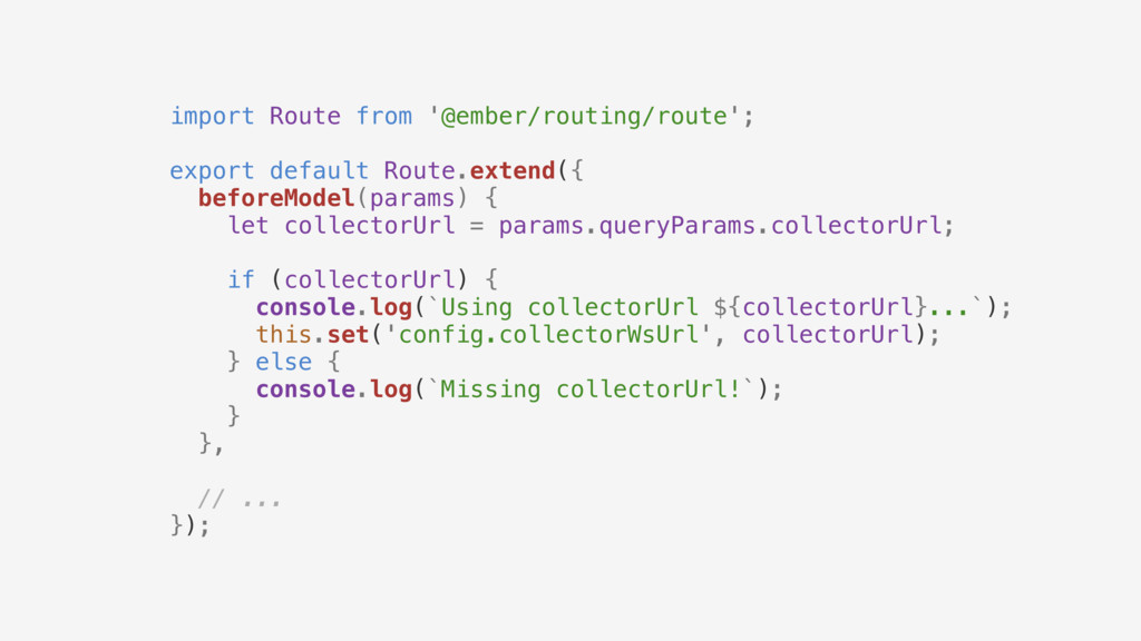 import Route from '@ember/routing/route'; expor...