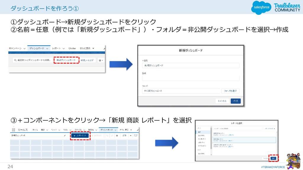 #TERAKOYAFORCE 24 ダッシュボードを作ろう① ①ダッシュボード→新規ダッシュボ...