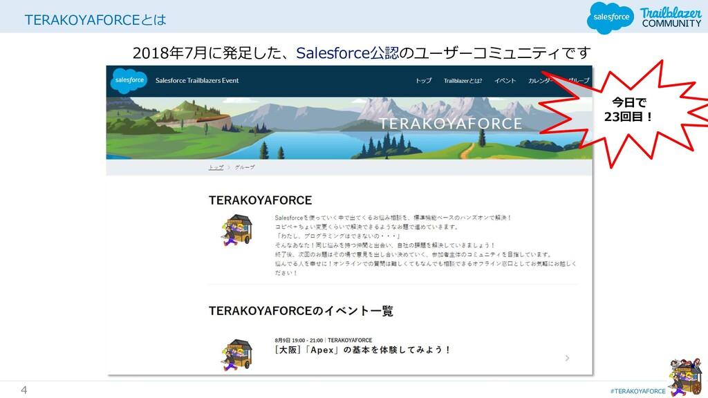 #TERAKOYAFORCE 4 TERAKOYAFORCEとは 2018年7月に発足した、S...