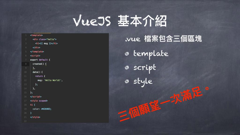 VueJS चՕ奧 .vue 䲆礯۱珀ӣ㮆玟璸 template script style ...