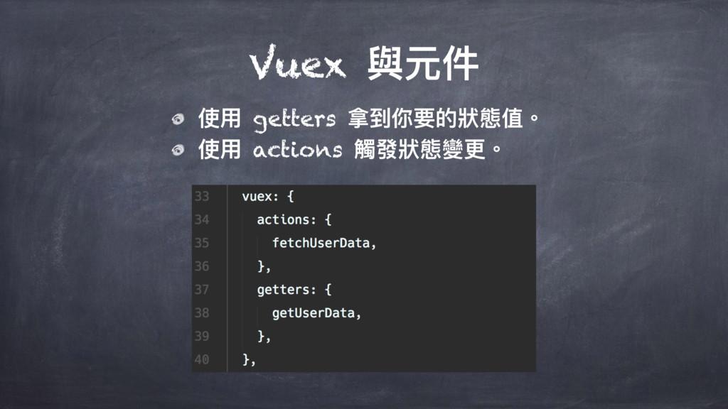 Vuex 膏زկ ֵአ getters ೭ک֦ᥝጱ制眲独牐 ֵአ actions 藉咳制眲虋ๅ牐