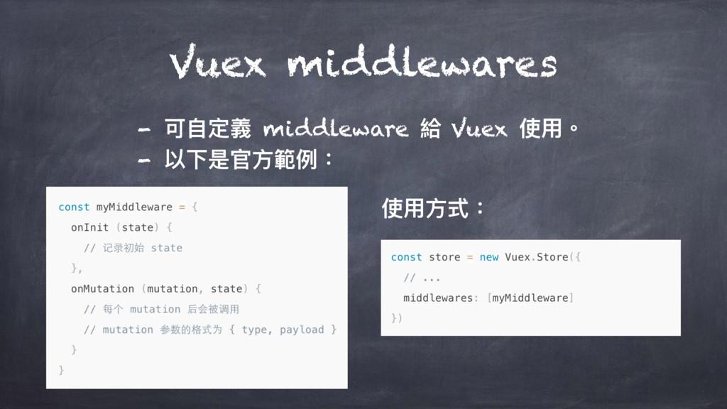 - ݢᛔਧ嬝 middleware 妔 Vuex ֵአ牐 - 犥ӥฎਥො塅ֺ物 Vuex m...