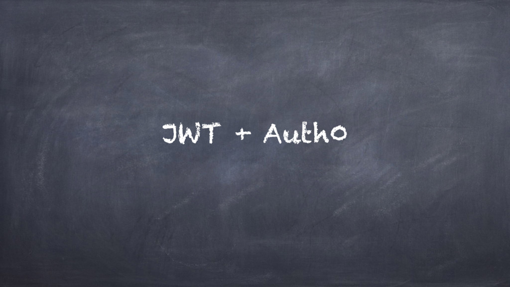 JWT + Auth0