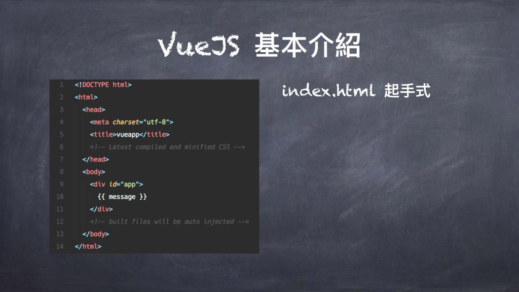 VueJS चՕ奧 index.html 蚏ಋୗ
