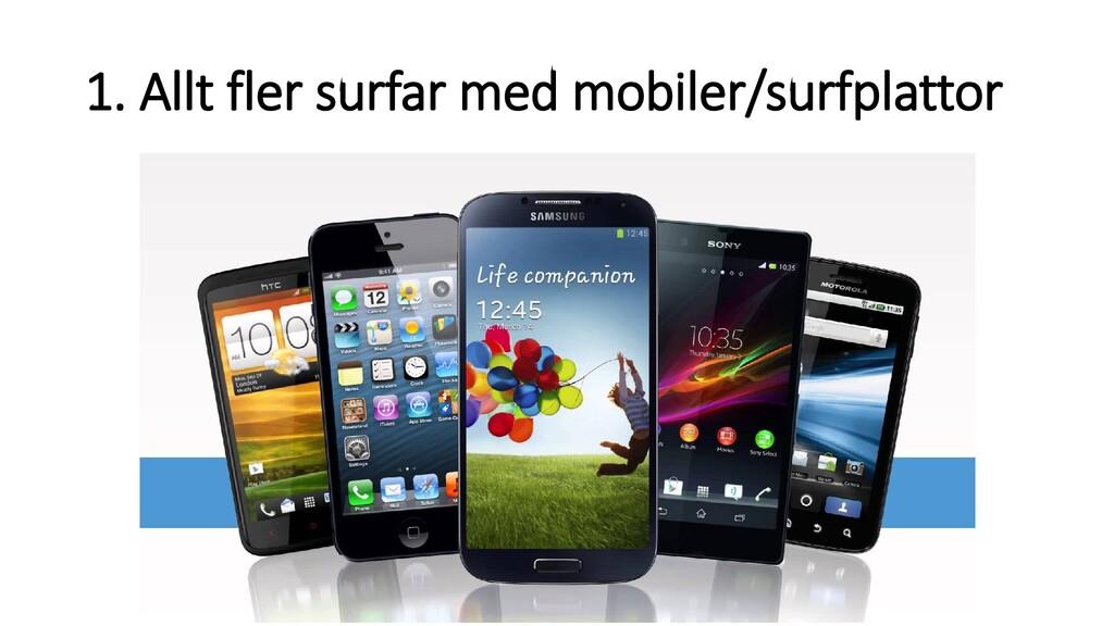 1. Allt fler surfar med mobiler/surfplattor