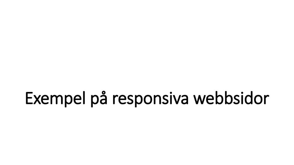 Exempel på responsiva webbsidor