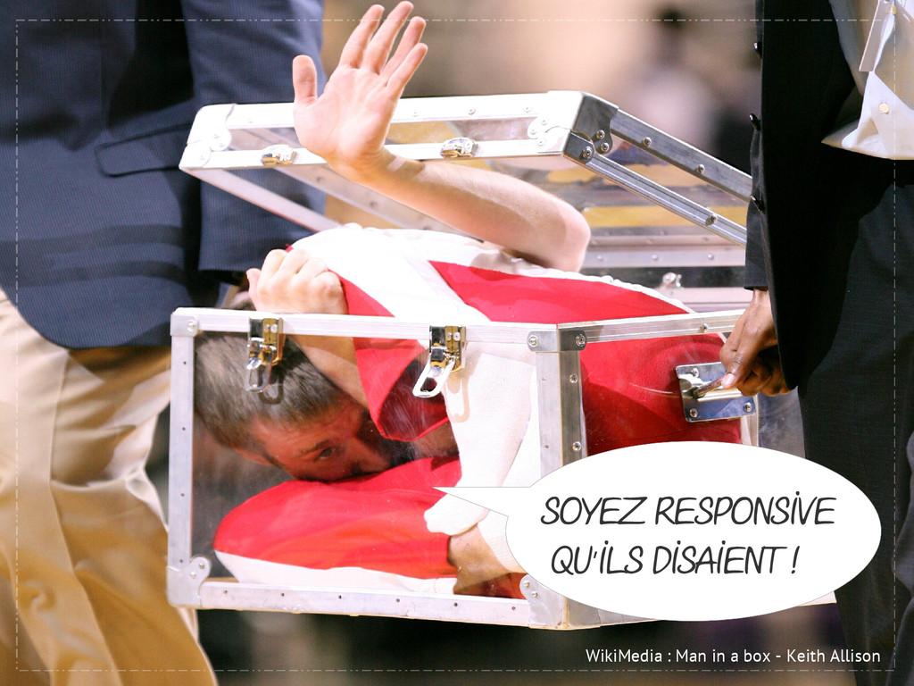 WikiMedia : Man in a box - Keith Allison Soyez ...