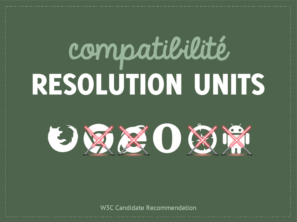 compatibilité RESOLUTION UNITS W3C Candidate Re...
