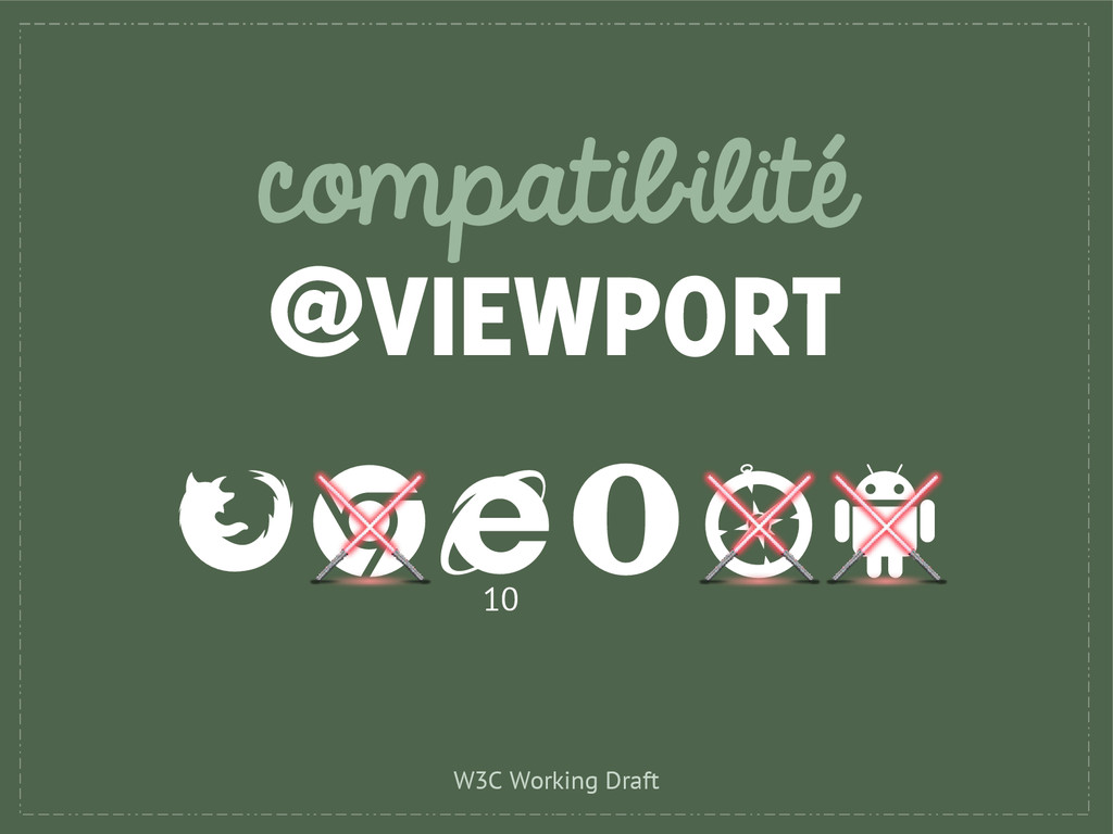 compatibilité @VIEWPORT 10 W3C Working Draft