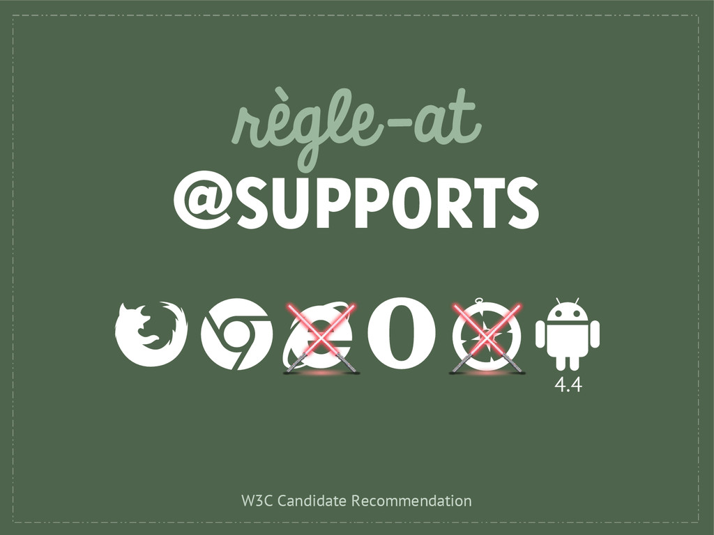 règle-at @SUPPORTS 4.4 W3C Candidate Recommenda...