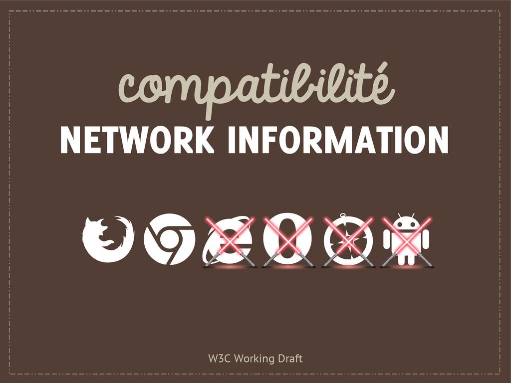 compatibilité NETWORK INFORMATION W3C Working D...