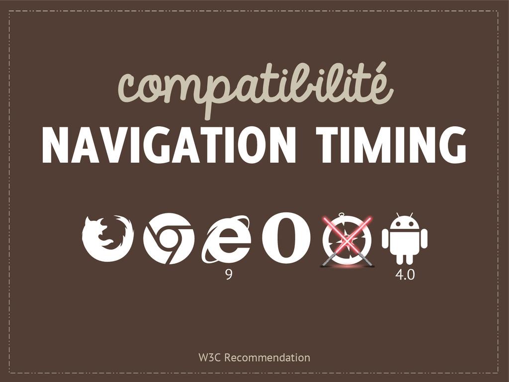 compatibilité NAVIGATION TIMING W3C Recommendat...