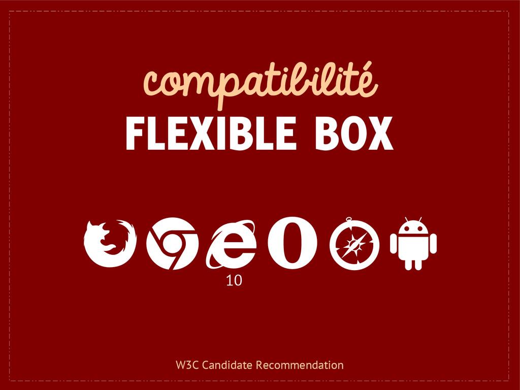compatibilité FLEXIBLE BOX 10 W3C Candidate Rec...