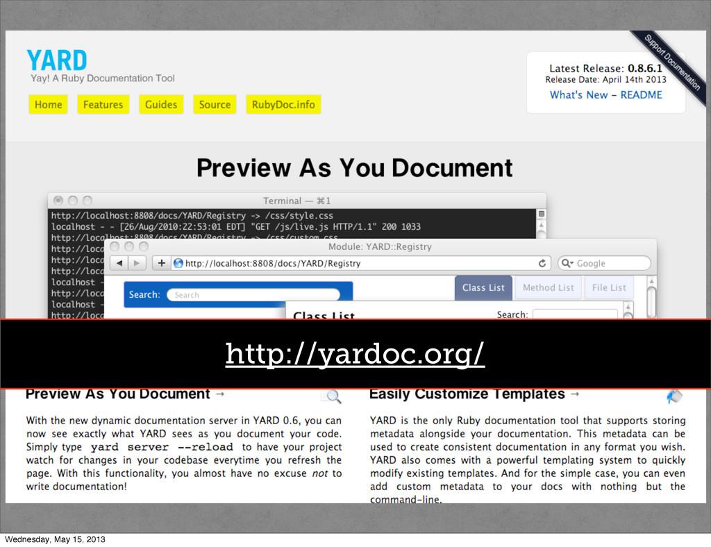 http://http://guides.rubygems.org/ http://yardo...
