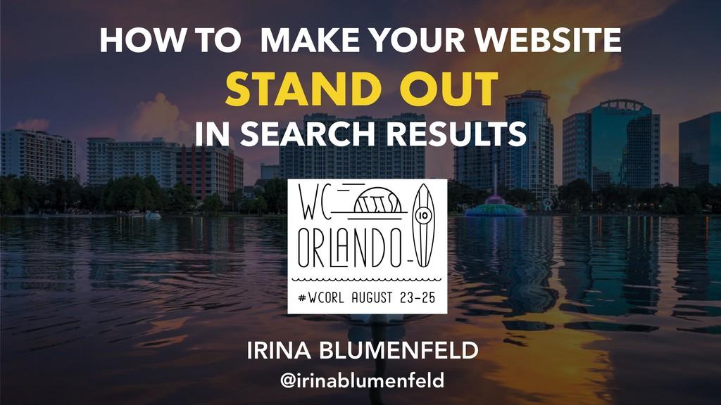 IRINA BLUMENFELD @irinablumenfeld HOW TO MAKE ...
