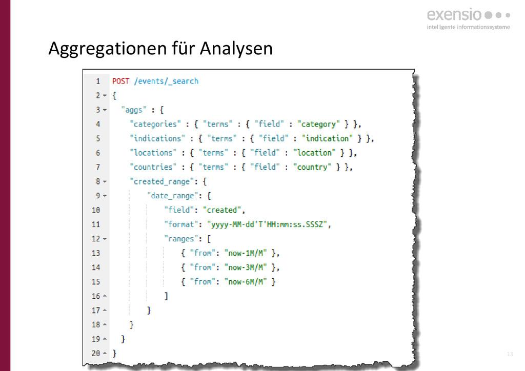 13 Aggregationen für Analysen