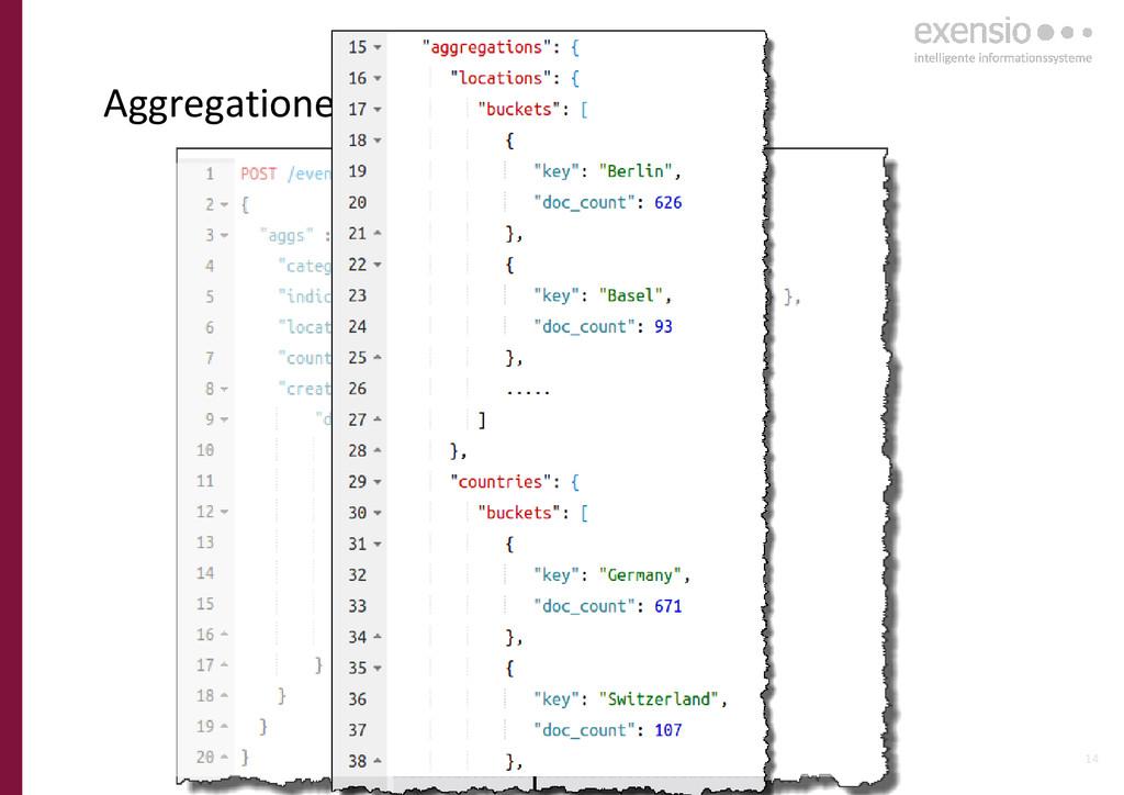 14 Aggregationen für Analysen