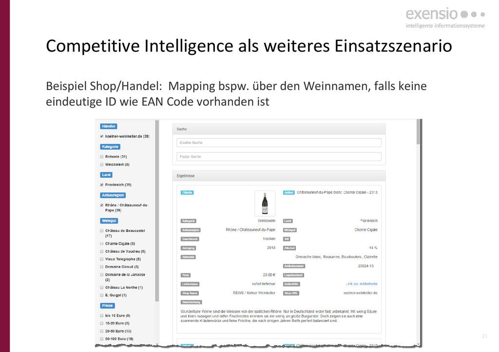31 Competitive Intelligence als weiteres Einsat...