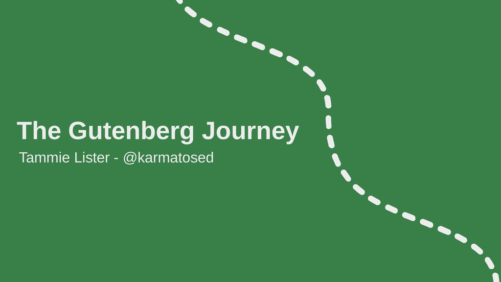 The Gutenberg Journey Tammie Lister - @karmatos...