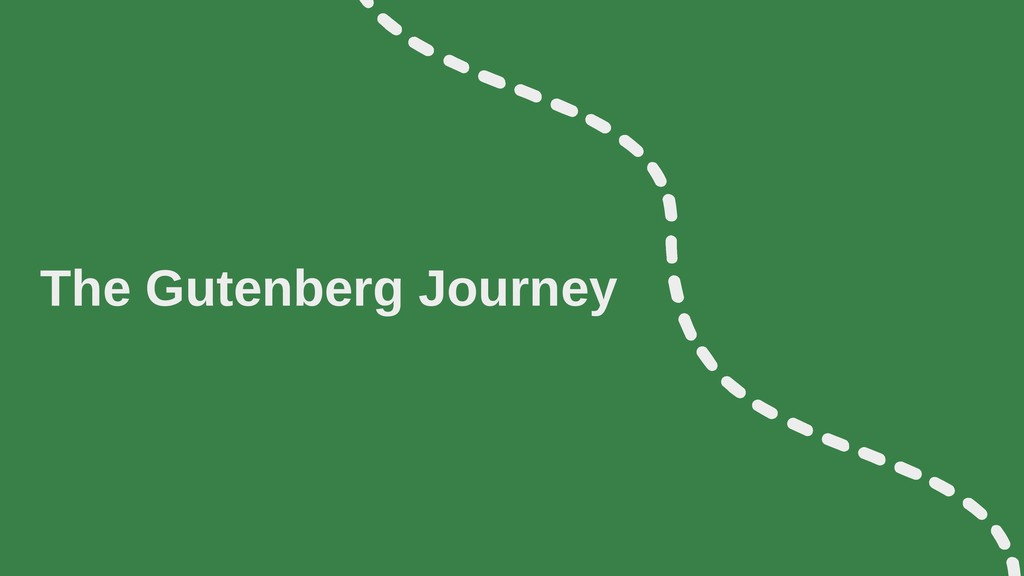 The Gutenberg Journey