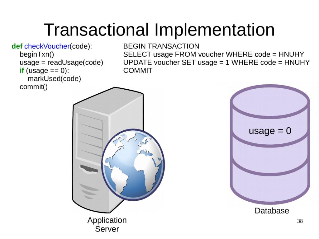 38 Transactional Implementation def checkVouche...