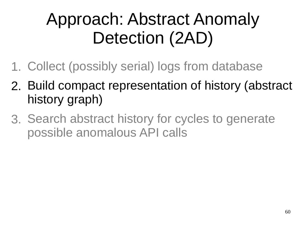 60 Approach: Abstract Anomaly Detection (2AD) C...