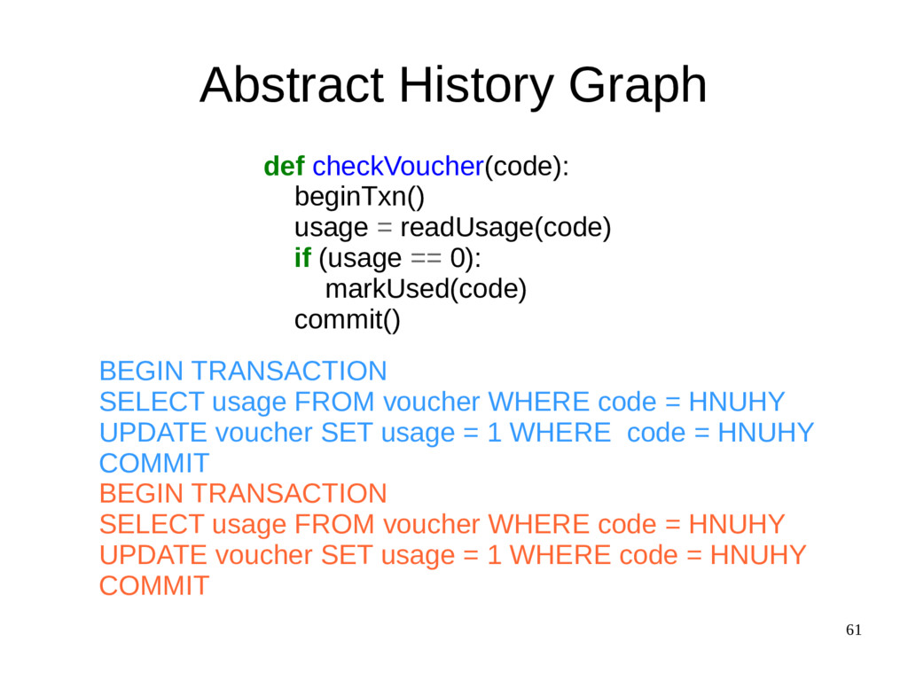 61 Abstract History Graph def checkVoucher(code...