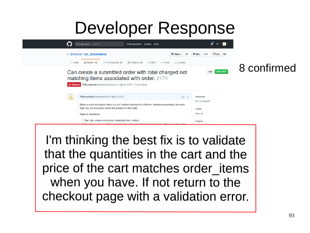 93 Developer Response 8 confirmed