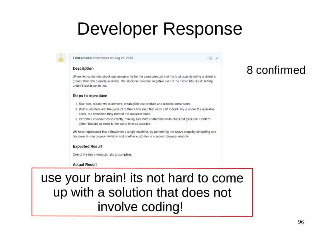 96 Developer Response 8 confirmed