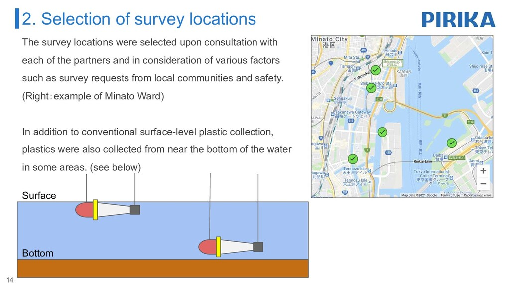 The survey locations were selected upon consult...