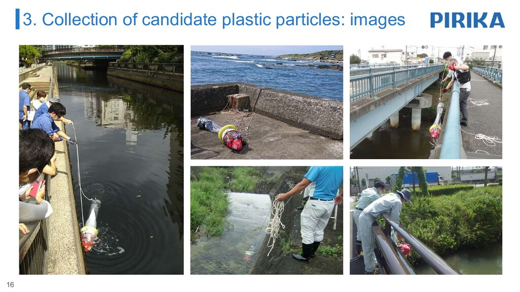 3. Collection of candidate plastic particles: i...