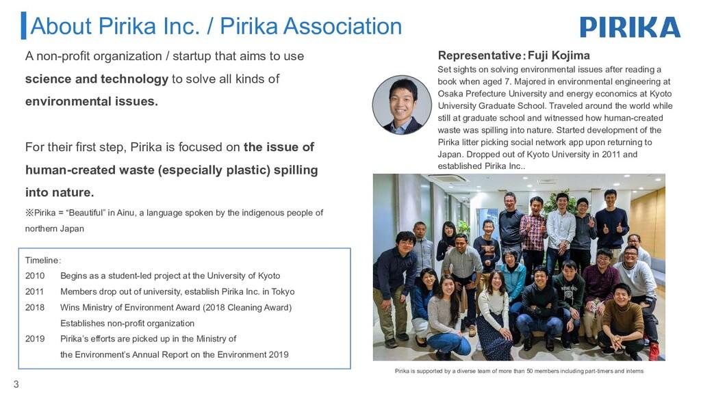 About Pirika Inc. / Pirika Association Represen...
