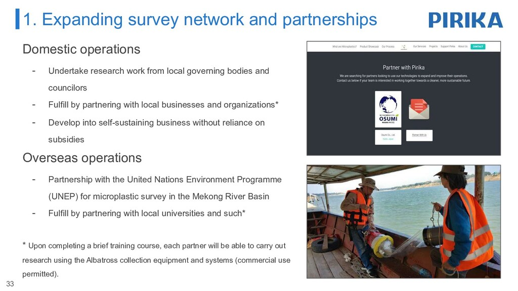 1. Expanding survey network and partnerships Do...
