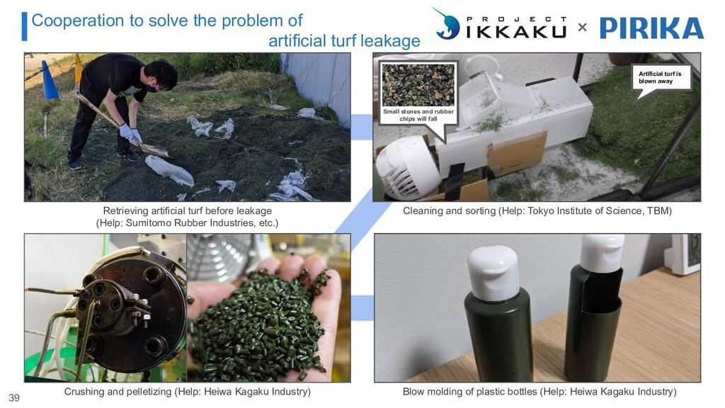 Retrieving artificial turf before leakage (Help...