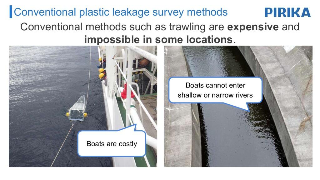 Conventional plastic leakage survey methods Con...